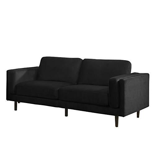 Sedex Neapel Designercouch/Polstergarnitur / Polstercouch/Couch 3-Sitzer Kunstleder schwarz