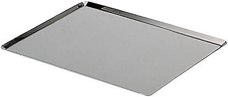 De Buyer 3361.40 Plaque Rectangulaire Inox - Bords Pincés - 40 x 30 cm