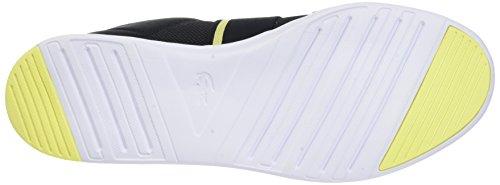 Lacoste Damen Avenir Slip 118 1 SPW Sneaker Schwarz (Blk/fluro Ylw)