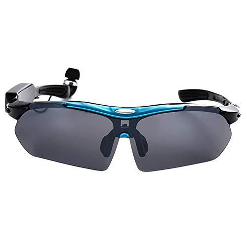 LFF SPORT Intelligente Brille Drahtlose Bluetooth Kopfhörer Sonnenbrille Stereo Musik Freisprech Sportbrillen für Bluetooth-Gerätetelefon + Gratis Austauschbare 4 Paar Objektiv,D