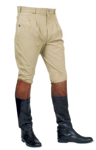 Mark Todd Auckland Pantalon d'équitation pour homme Devant plissé Beige - Beige