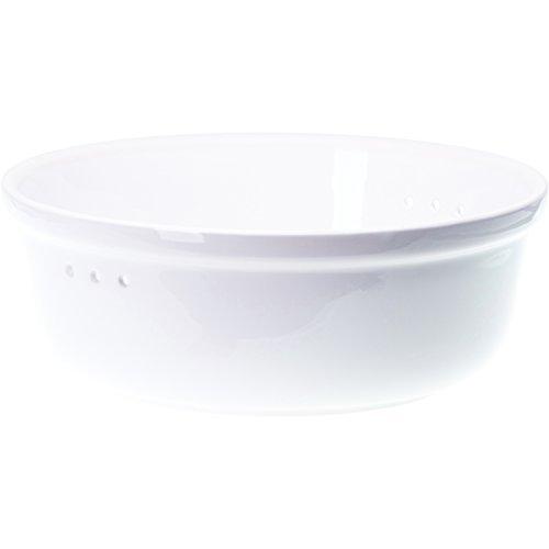 Römertopf Brottopf Keramik Brotkorb weiß 30 x 18 cm