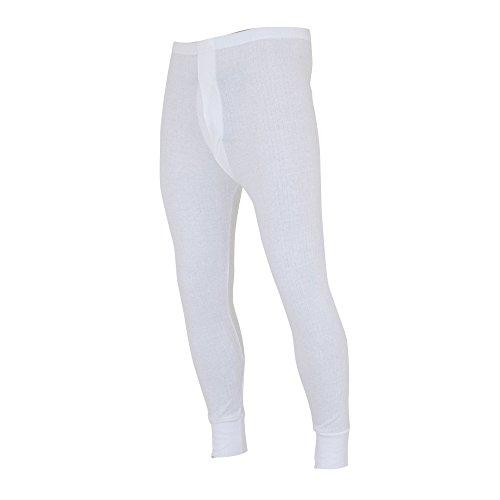 FLOSO - Sous-pantalon thermique - Homme (Tour de taille: L 91-100cm) (Blanc)