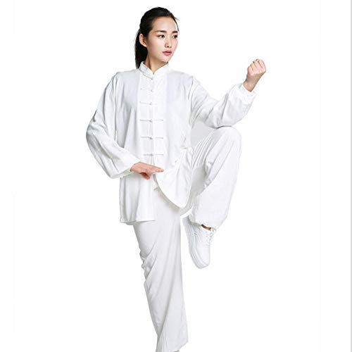 Kostüm Weiblich Nationalen Chinesischen - llh Fraus Tai Chi Kleidung Chinesische Tang Klage Nationale Kostüme Qi Gong Wing Chun Anzug Damen Meditations Anzug Zen Leinen Lange Ärme Geeignet Für Frauen,White2-XS