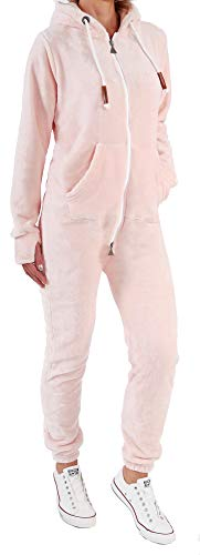Finchgirl F2001 Damen Jumpsuit Teddy Fleece Rosa Gr. XL -
