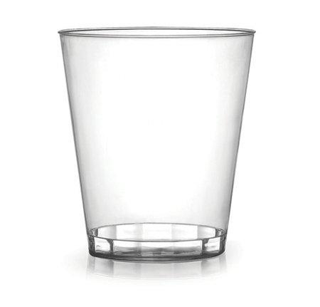 Lot de 40 gobelets en plastique rigide pour fêtes - Transparence complète - 227 ml