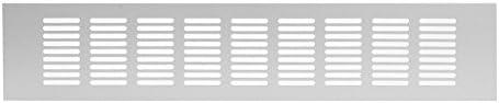 Aluminium Lüftungsgitter Stegblech Lüftung Alu-Gitter Gitter Möbelgitter Möbellüftung silber gold schwarz weiss Breite 40 60 80 100 120mm Länge 300 400 500 1600mm
