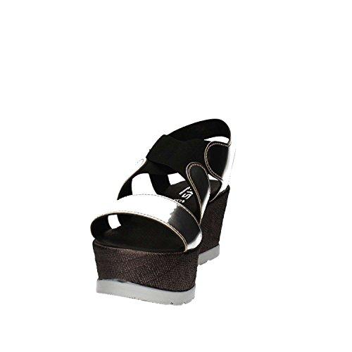 KEYS 5307 Sandalo zeppa Donna Argento