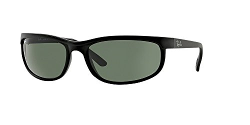 Ray-Ban RB2027 PREDATOR 2 W1847 62M Black/Matte Black/Crystal Green Sunglasses