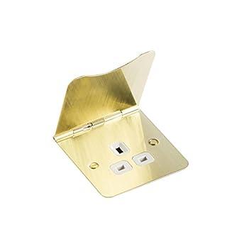 Knightsbridge Teller flach 13A, 1g, ungeschaltet Boden Socket fp7ubcw