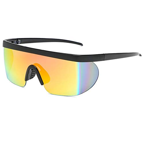 Ophelia Radfahren Sonnenbrillen Outdoor Sport-Fahrrad-große Feld-Sun-Glas-Winddichtes Bike Goggle Brillen Fahrradbrillen Fahrradbrillen (Color : C4)