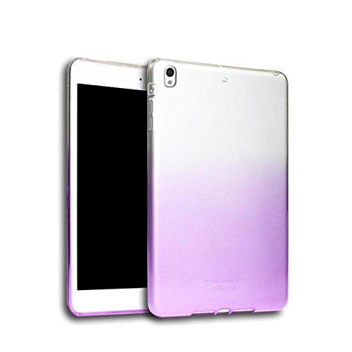 IPad Pro 10,5 Zoll HüLle, QinMM Ultra Klar Soft Silikon TPU Fall Deckung FüR Ipad Pro 10,5 Zoll Tisc (Lila) (Ipad Lila Deckung)