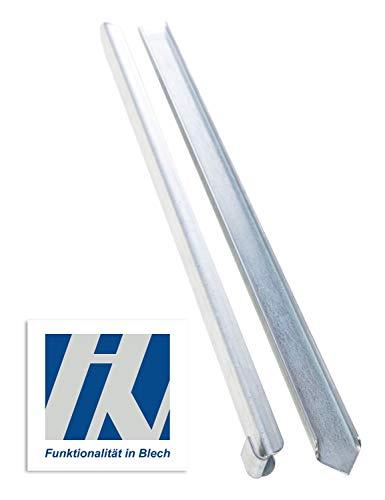 HN Kernstützen Metallwaren Erdanker für Rasenkante Metall 40x2,6x0,2cm 10er Set Beeteinfassung Wegbegrenzung