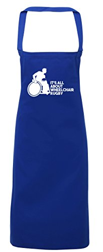 hippowarehouse IT 'S ALL ABOUT Rollstuhl Rugby Schürze Küche Kochen Malerei DIY Einheitsgröße Erwachsene, königsblau, Einheitsgröße (T-shirt Off Walk)