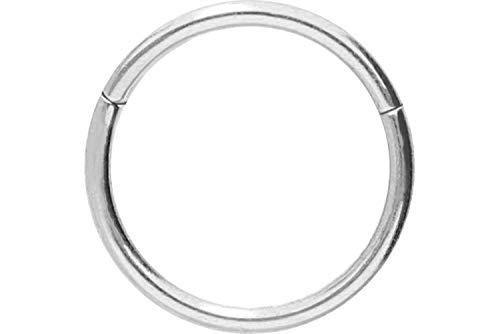 PIERCINGLINE Chirurgenstahl Segmentring Clicker | Piercing ✔ Ring ✔ Septum ✔ Helix ✔ Tragus ✔ | Farb & Größenauswahl