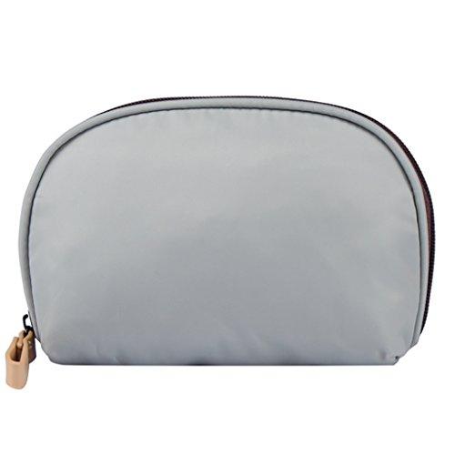 CLOTHES- Shell Cosmetic Bag viaggio semicircle lavare il pacchetto trasparente in PVC nichel borse donna sacchetto cosmetico ( Colore : Il blu scuro. ) Grigio