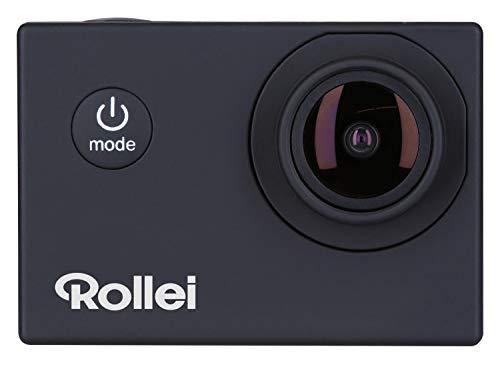 """Rollei Actioncam Fun - WiFi Actionkamera mit 4k Video-Auflösung und Weitwinkelobjektiv, 2\"""" LCD-Display, Loop-, Zeitraffer-, Slowmotion-Funktion, 20 MP Kamera, bis 40 m wasserdicht, Schwarz"""