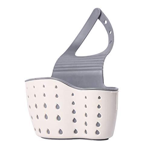 EUCoo HäNgender Korb NüTzliche Saugnapf Waschbecken Regal Seife Schwamm Rack Kitchen Sucker Storage Tool(Beige) -