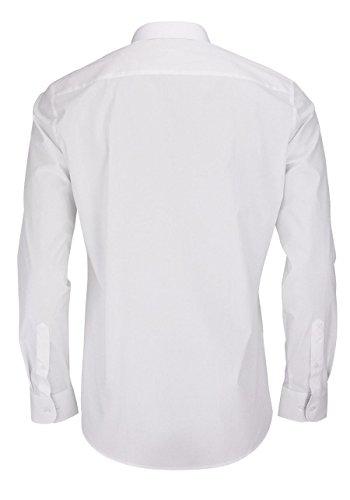 Eterna Herrenhemd Langarm Freizeit Baumwoll Hemd Baumwollhemd Herren Business Slim Fit Weiß Weiß