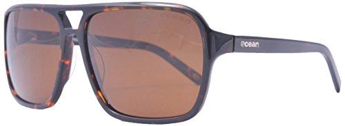Ocean Sunglasses - New York - lunettes de soleil polarisées - Monture : Marron - Verres : Fumée (19400.2)
