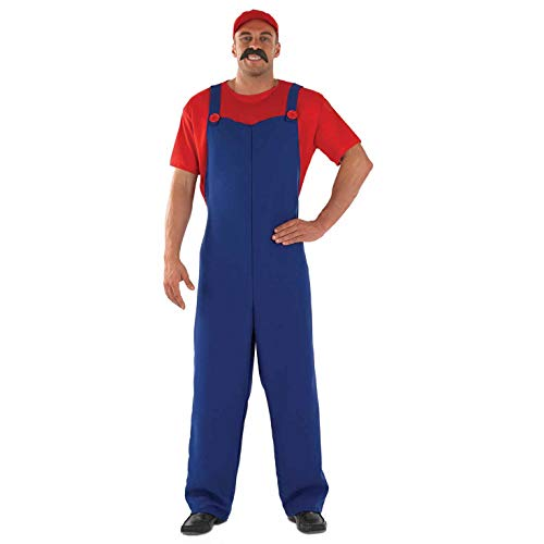 Rote Kostüm Klempner - Fun Shack Klempner-Gehilfe - erwachsenes Abendkleid-Kostüm - Rot - M