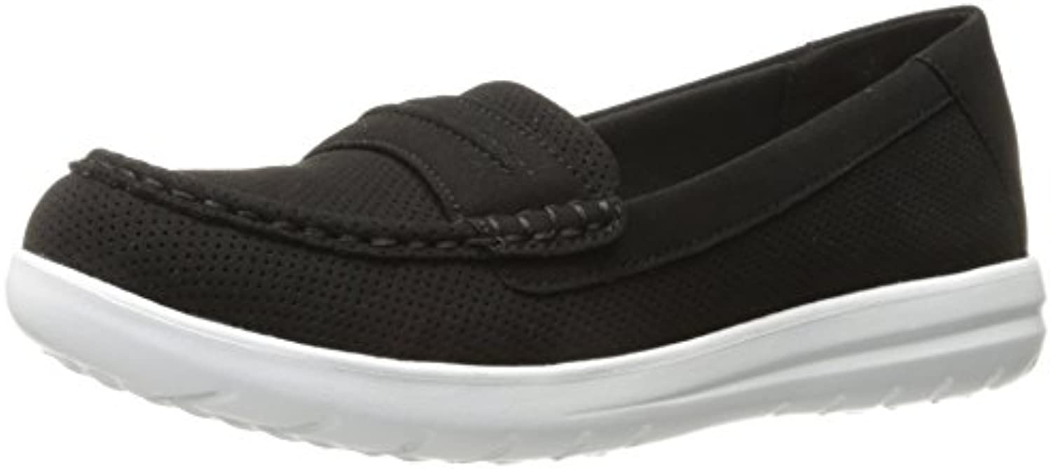 Clarks Women's Jocolin Perforated Maye Slip-On Loafer Black Perforated Jocolin Microfiber 8 M US f4ee33
