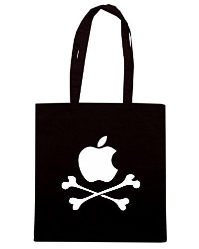 T-Shirtshock - Borsa Shopping FUN0618 applebones black Nero