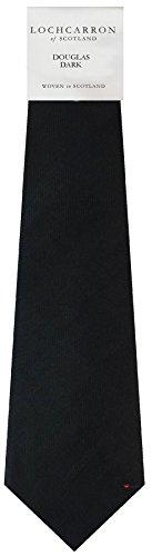 Clan Tie Dark Douglas Tartan Pure Wool Scottish Handmade Necktie