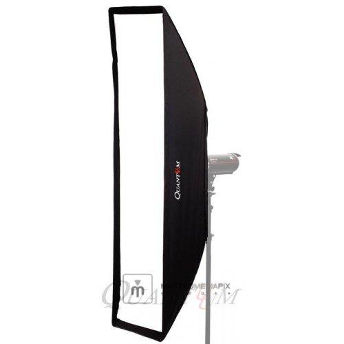 MMPix Quantuum Softbox 40x180cm rettangolare con anello bowens per flash da studio doppio diffusore possibile combinazione con griglia a nido d