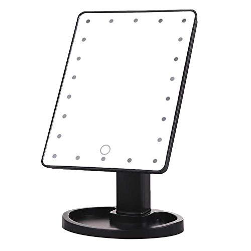 LecimoKosmetisches Belichtetes Desktop-Stand-Schminkspiegel-Touch Screen 22 LED-Licht Neu, 1#