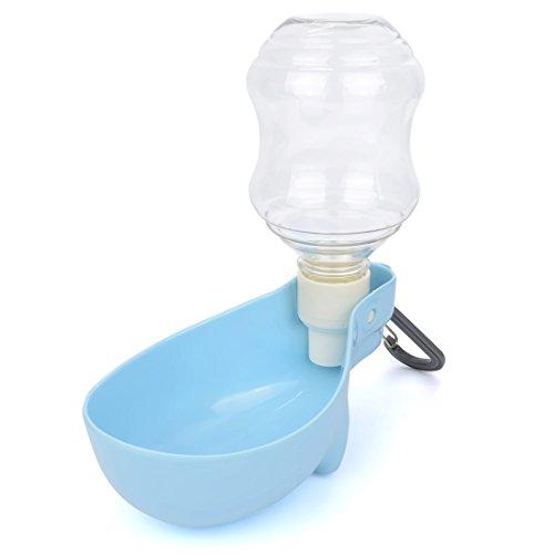 TopEUR-blau-faltbare-tragbare-Haustier-Reise-Wasser-Ftterer-Wasserkocher-Spender-Flasche-Trinkbrunnen-fr-Hunde-Katzen-kleine-Tiere