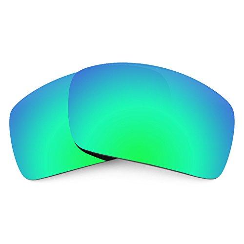 Verres de rechange pour Oakley Oil Drum — Plusieurs options Vert Emeraude MirrorShield® - Polarisés
