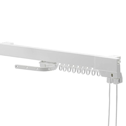 Swish Supreme Corded Aluminium Curtain Track Set, White, 150 Cm