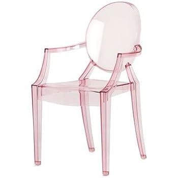 Kartell 2852Y2 Lou Lou Ghost - Sedia per bambini, Colore: rosa