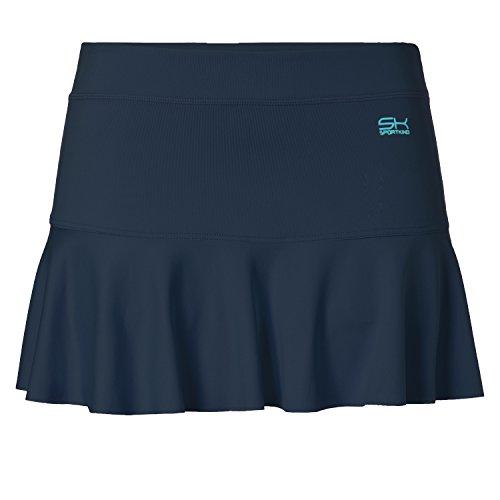 Sportkind Mädchen & Damen glockiger Tennisrock, navy blau, Gr. 164