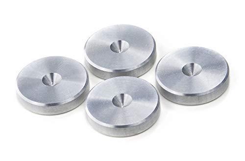 Silber Aluminium Shlank Unterlagen für Lautsprecher Spikes/Boxen Spikes. ø 20mm - 4 Stück
