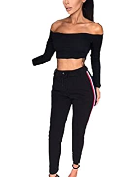 yulinge Mujeres Cintura Alta Pantalones De Yoga Pantalones Largos Tobillo Corriendo