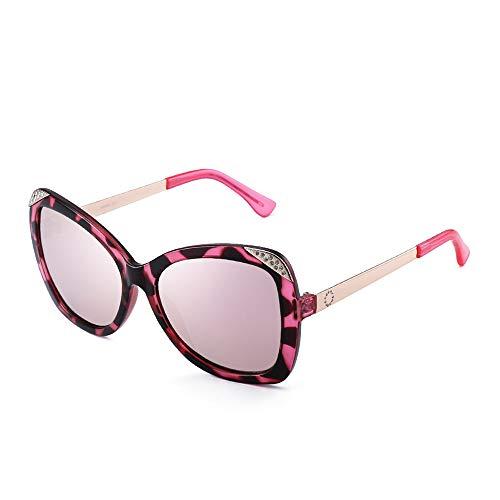 FGKING Vintage Fashion Round Arrow Style polarisierte Sonnenbrille, Edelstahl Plastic Large Frame Brillen für Frauen,C