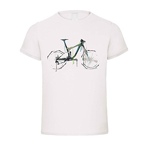 Muuhh.de Downhill Bike Abstrakt | Fun Shirt | Fahrrad T-Shirt | Design