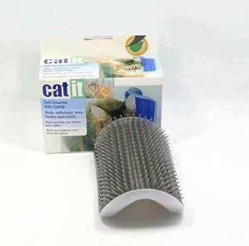 SANDIN Brosse d'angle de toilettage et massage pour chat avec herbe à chat, 12,7 x 8,5 x 4,7 cm