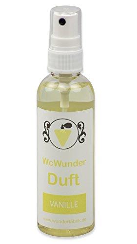 WcWunder WC Pure Toilettenduft, Toilettenparfüm, Geruchsblocker PET-Flasche (Vanille, 1 x 100ml)
