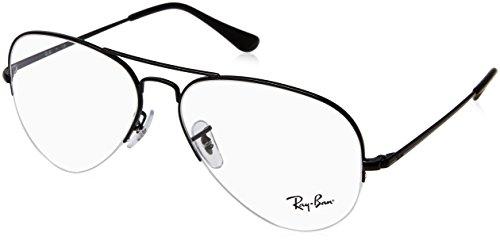 Ray-Ban Unisex-Erwachsene 0rx 6589 2509 59 Brillengestelle, Schwarz (Black)