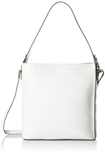 Esprit Accessoires Damen 058ea1o006 Henkeltasche, Weiß (Off White), 10x29x27 cm (Leder-tote Off-white)