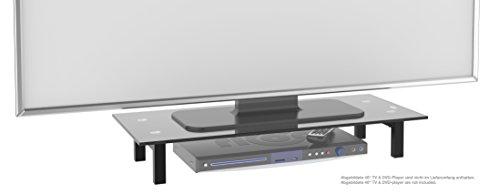 """RICOO TV Ständer Monitorständer Bildschirmständer Podest FS6028B Universal Standfuß Rack Fernsehständer LCD QLED QE 4K LED OLED IPS SUHD UHD 3D Curved/ 76cm/30"""" - 107/42"""" Zoll / Schwarz"""