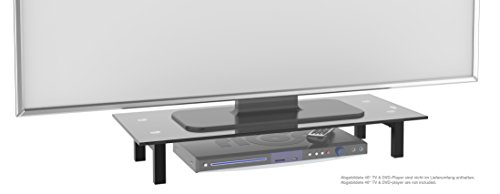 Full-motion Flat Panel Mount (RICOO TV Ständer Monitorständer Bildschirmständer Podest FS6028B Universal Standfuß Rack Fernsehständer LCD QLED QE 4K LED OLED IPS SUHD UHD 3D Curved/ 76cm/30