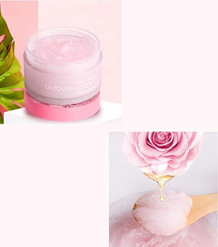 TRENTA Peeling-Körperpeeling Rose Meersalz-Körperpeeling mit Cellulite-Entferner für Body Peace und Glow-220g - Meersalz-fußpeeling