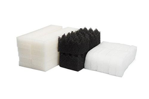 LTWHOME Compatible Filtres en Mousse et Tampons De Polissage Ensemble Convient pour Le Fluval 404, 405,406 (Paquet DE 30)