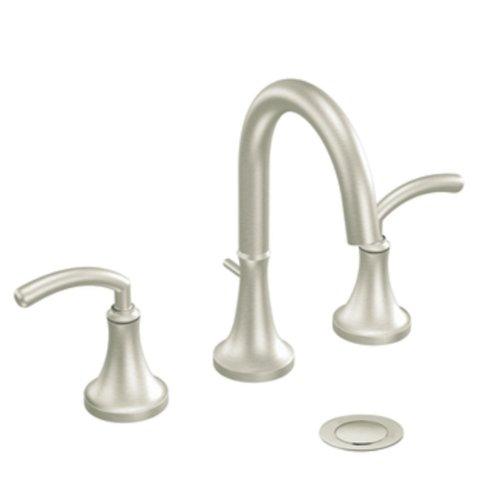 Moen ts6520bn Icon Zweigriff hoch Arc Badezimmer Wasserhahn ohne Ventil, gebürstetes Nickel