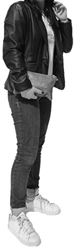 histoireDaccessoires - Pochette Pelle Donna - PO152721I-Selena Nero