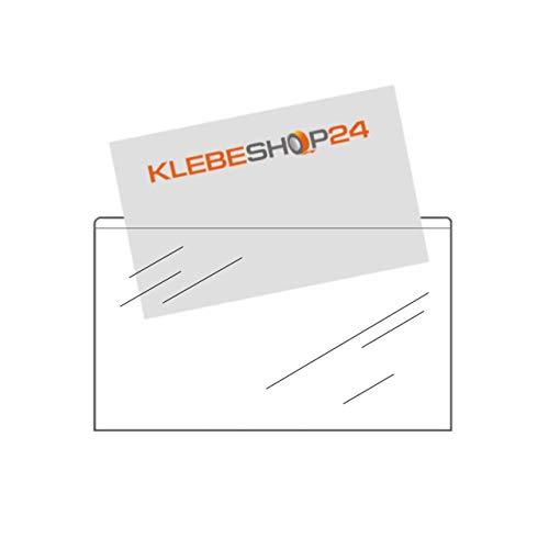 Visitenkartentaschen selbstklebend breite Seite offen 105 x 60 mm verschiedene Verpackungseinheiten / 20 Stück